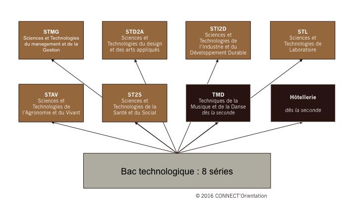 Bac Technologique : 8 séries
